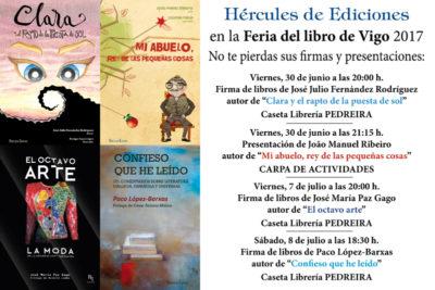 Axenda de Hércules de Ediciones na Feira do Libro de Vigo