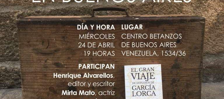 AXENDA DE ACTOS DE ALVARELLOS EDITORA EN BOS AIRES DO 23 AO 26 DE ABRIL DE 2019