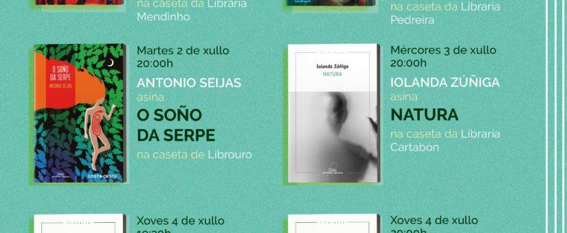 Programa da Editorial Galaxia na Feira do Libro de Vigo